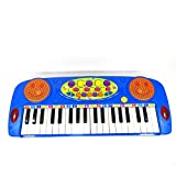 Toy Piano Blue Electroinc Battery Operated Keyboard Musical Play Set