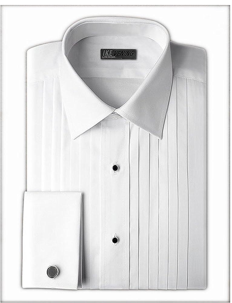 Ike Behar Laydown Collar with 1/2 Inch Pleats Tuxedo Shirt