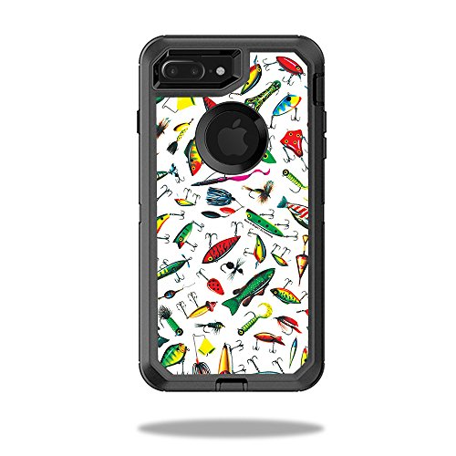 MightySkins Skin Compatible with OtterBox Defender iPhone 7 Plus Case - Bright Lures | Protective, Durable, and Unique Vinyl wrap Cover | Easy to Apply, Remove, and Change Styles | Made in The USA