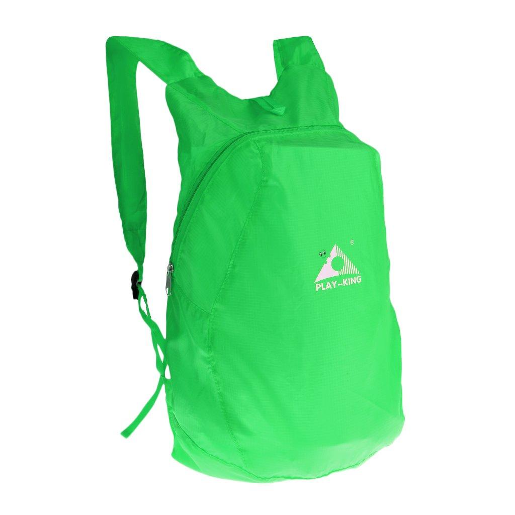 Jiliオンライン軽量折りたたみ式バックパック防水Folding Day Pack Packable超軽量アウトドアキャンプハイキング旅行パックショルダーバッグ One Size グリーン B078QM9TNT