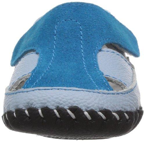Little Blue Lamb Babyschuhe Lauflernschuhe Sandalen Glatt- und Wildleder, Größe: 6-12 Monate, Farbe: blau blau