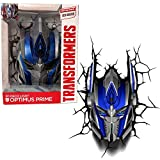 3DLightFX Transformers Movie Age of Extinction Series Battery Operated 10 Inch Tall 3D Deco Night Light - OPTIMUS PRIME with Light Up LED Bulbs and Crack Sticker