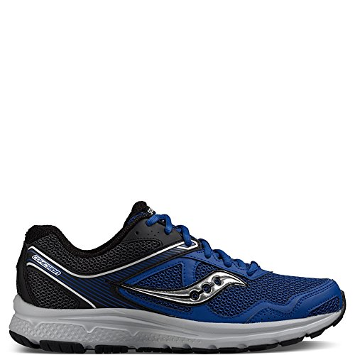 Saucony Men's Cohesion 10 Running Shoe, Royal/Black, 7.5 M US