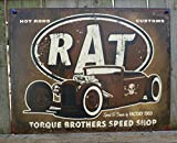 Rat Hot Rods Torque Brothers Speed Shop Tin Sign 13 x 16in