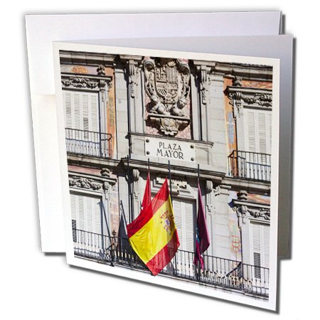 3dRose Danita Delimont - Madrid - Spain, Madrid, Plaza Mayor, building detail - EU27 WBI0183 - Walter Bibikow - 12 Greeting Cards with envelopes (gc_139173_2) (Madrid Plaza)