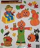 Fall Harvest Reusable Window Clings ~ Craft Fun, Country Pumpkin Patch (13 Clings, 1 Sheet)