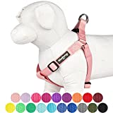 Blueberry Pet 19 Colors Step-in Classic Dog Harness, Chest Girth 16.5'' - 21.5'', Baby Pink, Small, Adjustable Harnesses for Dogs