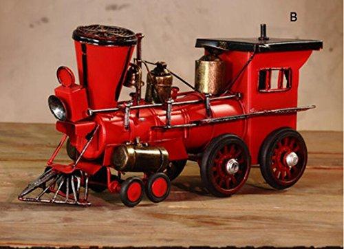 American locomotive model bar window props models Home Furnishing crafts ornaments ZCL1130006 ( Color : A )