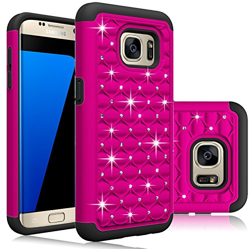 Samsung Galaxy S7 Case, [Blink Series] Sparkle Diamond Shockproof hard polycarbonate outer shell and soft inner TPU Dual Layer Hybrid Armor Defender Case