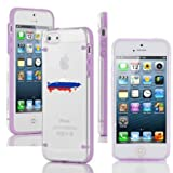 Apple iPhone 4 4s Ultra Thin Transparent Clear Hard TPU Case Cover Russia Russian Flag (Purple)