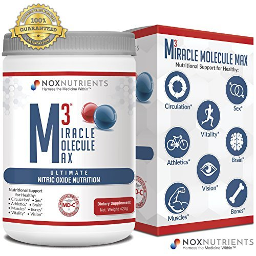 M3 Miracle Molecule Max Nitric Oxide Nutrition Supplement - Ultimate Nitric Oxide Powder - 60 Scoops - Nox Nutrients