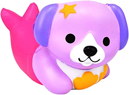 Anboor Squishies Popcorn Dog Squishy Squeeze Slow Rising Toys Stress Relief Squishies Animal Toy Kawaii Scented Soft Gift Collection