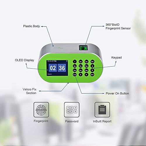 ZKTeco Desktop Fingerprint Time Clock Biometric Attendance