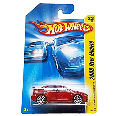Hot Wheels 2008 023 23 New Models Red 2008 Lancer Evolution 1:64 Scale: Toys & Games [5Bkhe1203488]