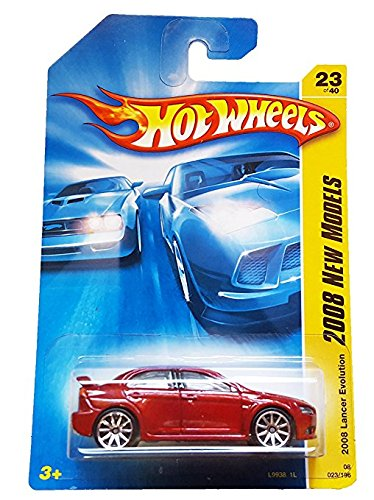 Hot Wheels 2008023 23 nuevos modelos rojo 2008 Lancer Evolution escala 1:64