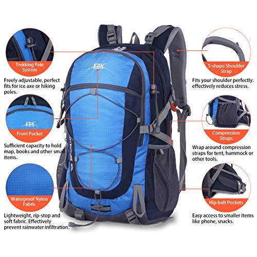 Mooedcoe 40L Mochila Senderismo Montaña Trekking Macutos de Viaje Acampada Marcha (Azul): Amazon.es: Deportes y aire libre