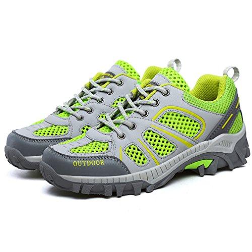 de XIGUAFR caño botas Unisex bajo adulto Verde 15qFw5T