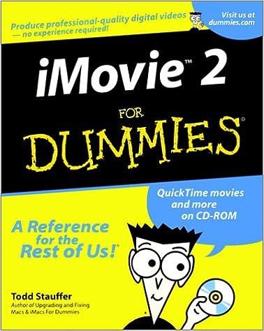 Amazon com: iMovie 2 For Dummies? (9780764507489): Todd Stauffer: Books
