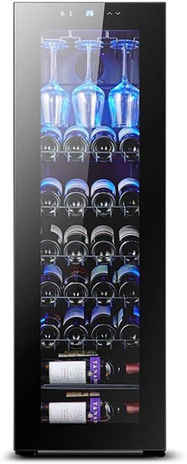30本のボトル熱電赤と白のワインクーラー、フリースタンディングワイン冷蔵庫、5-18°C恒温冷却/ダブルエアダクトエア冷却/静音動作冷蔵庫 (Size : B)
