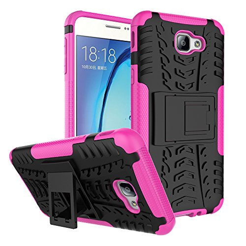 Galaxy On5 Case, On5 Case, On 5 Case, VPR [Drop Protection] [stand] Premium Dual Layer Shock Absorption Anti-Scratch Armor Defender Protective Case with Kickstand for Samsung Galaxy On5 (Rose) (Galaxy Pedestal)