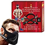 Training Fitness Mask- Workout Mask - High Altitude Elevation Simulation- Peak Resistance - Peak Performance -For Running- Endurance Exercise-Cardio-Jogging- Gym –MMA- HIIT– Free Bonus Speed Jump Rope