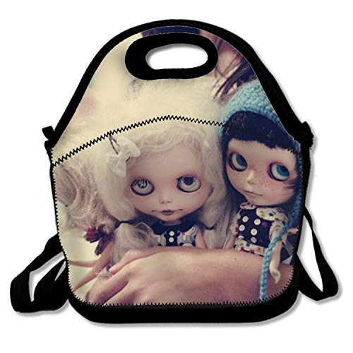 shunshunfeng Lunch Backpack Tote Handbag Dark Creepy Gothic Emo Reusable Lunch Bags Lunch Box