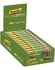 PowerBar Energieriegel Natural Energy Fruit Bar – Fruchtriegel + Magnesium bei erhöhtem Energiebedarf – Vegan – 24 x 40g Cranberry