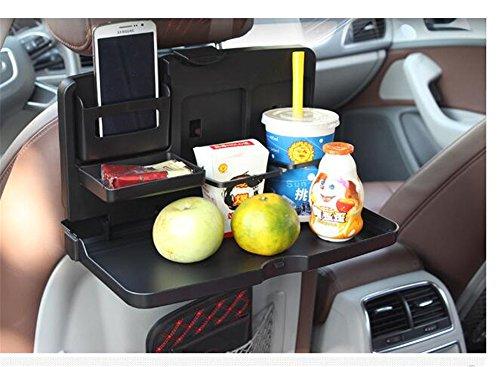 Gobuy Car Seat Back Bottle Organizer Plastic Food Tray Foldable Storage Box