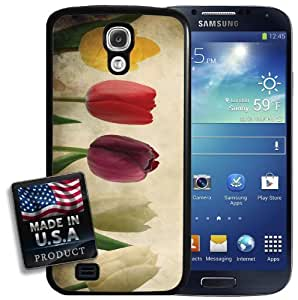 Vintage Spring Tulips Floral Flowers Galaxy S4 Hard Case