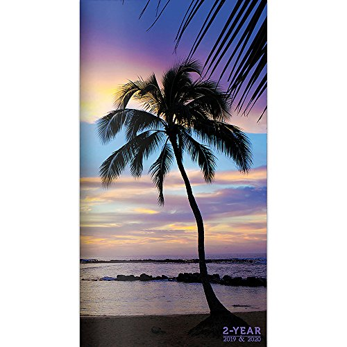 2019-2020 Tropical Beaches 2-Year Pocket Planner - Portrait Wall Pocket