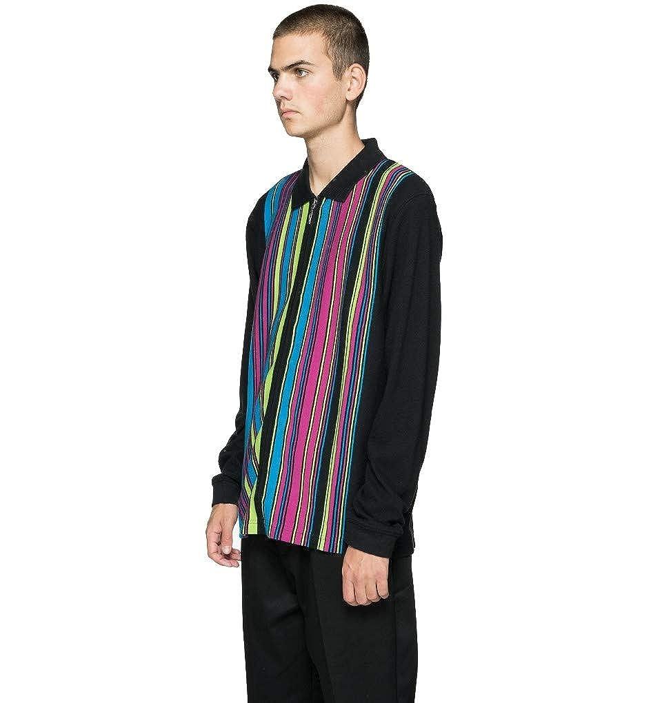 d523d732 Stussy Simon Long Sleeved Zip Polo Shirt Black: Amazon.co.uk: Clothing