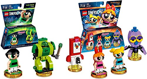 Lego Dimensions Powerpuff Girls Bundle Set Team 2 Pack 71346 Fun Pack 71343