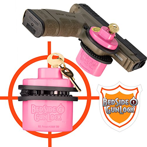 BedSide GunLock Gun Safe Storage Trigger Lock for Guns Pistol Rifles Handguns & Shotguns - Quick Access Mount Accessories for Home Security or Display - Secure Alternative to Safes, Vault and Case