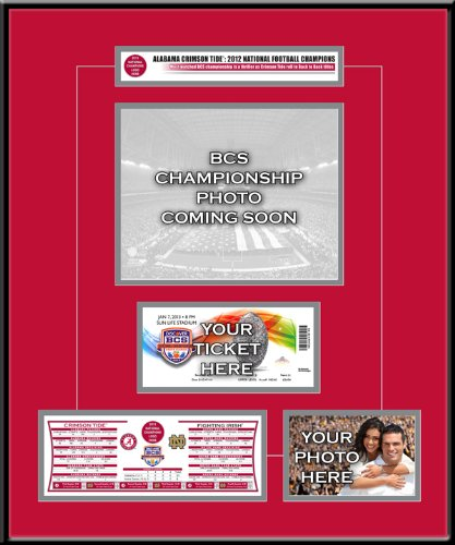NCAA Alabama Crimson Tide BCS Champions My Ticket Frame by That's My Ticket