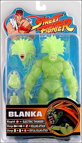 Street Fighter 15th Anniversary Round 2 Glow in the Dark Blanka Exclusive Action Figure