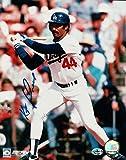Ken Kenny Landreaux Signed 8X10 Photo Autograph LA Dodgers Home at Bat w/COA