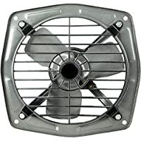 AMIKAN Laurels Happy Home Fresh Air EXHAUST FAN 300 mm/12 inch Safety Grid High Speed Copper Winding for Kitchen Bathroom Store (Black) IS :996 Approved Motor P-03