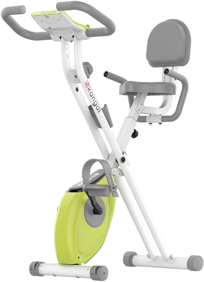 Bicicleta estática plegable, bicicleta estacionaria para interiores con resistencia magnética ajustable de 8 niveles y soporte para tableta y monitor LCD para entrenamiento de bicicleta de entrenami: Amazon.es: Hogar