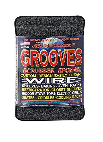 Jetz-Scrubz Grooves Scrubber Sponge, 5.75