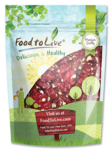 Food To Live California Red Walnuts (Raw, No Shell, Bulk) (2.5 Pounds)