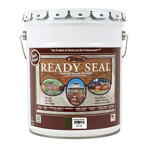 Ready Seal 535 Wood Stain, Mission Brown, 5-Gallon