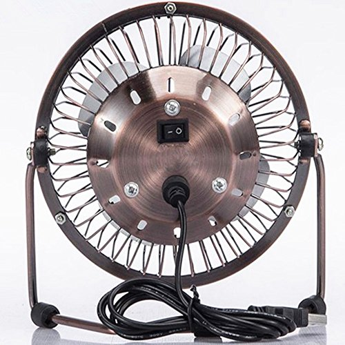 6 Inch Desk Fan : Inch desk table fan quiet vintage bronze street