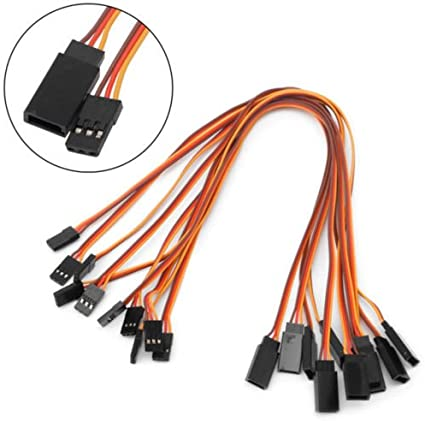 S-TROUBLE 10Pcs 200mm Servo Lead Extension Wire Cable For RC Futaba JR Male to Female 20cm