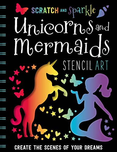 (Scratch and Sparkle Mermaids / Unicorns Stencil Art)