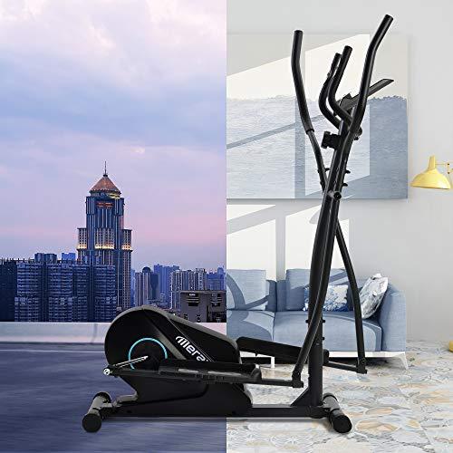 Daverose Crosstrainer ellipstrainer met lcd-display en apparaatstandaard, draagbare ellipstrainer voor thuisoefeningen…