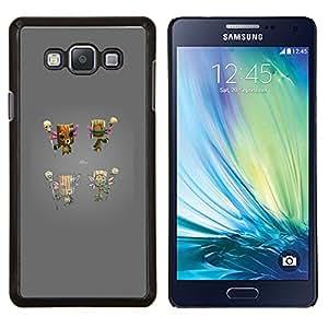 Totem juego de consola gris Carácter- Metal de aluminio y de plástico duro Caja del teléfono - Negro - Samsung Galaxy A7 / SM-A700