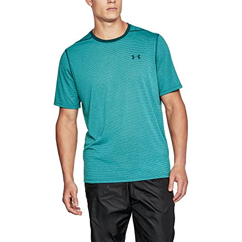 Under Armour Men's Threadborne Siro Striped T-Shirt, Tourmaline Teal/Pine Shadow, (Pine Shadow)