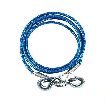 Mmyunx 4 m 5 toneladas Cable de Acero Remolque Correa Remolque Cuerda de Remolque con Ganchos para Servicio Pesado Emergencia de Coche: Amazon.es: Deportes ...