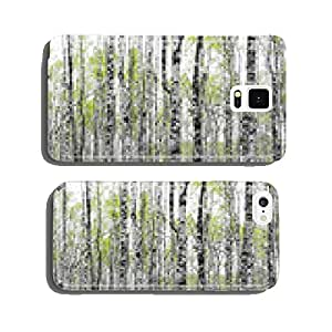 Forest with trunks of birch trees cell phone cover case iPhone6 Plus