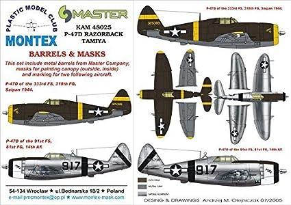 Metal Part #KAM48025 Montex KAM 1:48 P-47 D Razorback for Tamiya #2 Mask